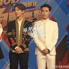 Luhan and Yixing reunited. So, so cute. #Luhan #ZhangYixing