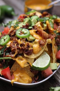 Vegan Nachos with Barbecue Jackfruit