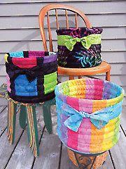 Tubular Baskets Sewing Pattern