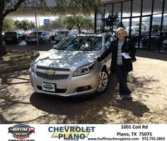 #HappyAnniversary to Connie Guynn on your 2013 #Chevrolet #Malibu from Everyone at Huffines Chevrolet Plano!