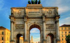 Siegestor Victory Gate Munich Germany