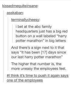 Harry Potter marathons on ABC Family hahahahaha Harry Potter Marathon, Harry Potter Love, Harry Potter Fandom, Harry Potter Tumblr Funny, Harry Potter Weekend, Harry Potter Theories, Potter Facts, Look Man, Show Must Go On