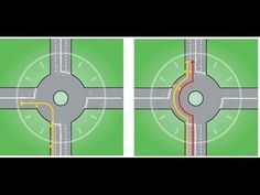 How to go straight on a roundabout