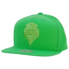 superior quality 79984 80ab5 Seattle Sounders FC Mitchell   Ness Kelly Green Structured Snapback Hat Cap