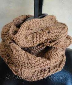 #125 Luxe Infinity Scarf PDF Knitting Pattern #knitting #SweaterBabe.com