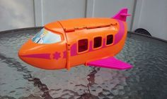 """11"""" Polly Pocket Doll Groovy Getaway Jet Airplane #pollypockets #Vehicles"""