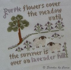 Lavender Hill. I stitched the sheep with chenille thread