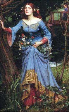 """""""Ophelia""""  J.W. Waterhouse"""
