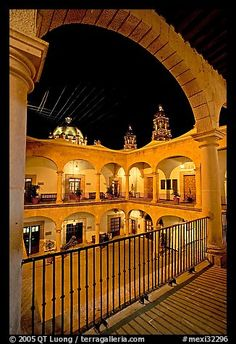 Inside courtyard of the Palacio de Gobernio. Zacatecas, Mexico