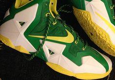 Nike LeBron 11 Oregon Ducks PE for March Madness