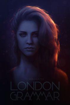 London Grammar - Hannah Reid poster by Elucidator.deviantart.com on @deviantART