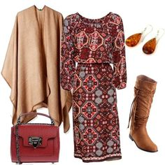 Love this dress Lovely Dresses, Beautiful Outfits, Cute Fall Outfits, Cool Outfits, Mature Women Fashion, Womens Fashion, Modest Fashion, Fashion Outfits, Modest Skirts