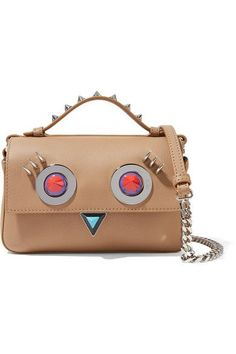 fee2e36dcc93 Fendi - Double Baguette micro embellished leather shoulder bag