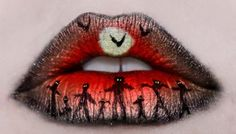 Halloween lips by Katie Alves | Coffee Break