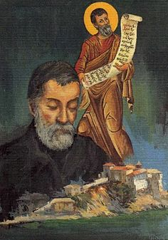 Alexandros Papadiamantis and Sigmund Freud Sigmund Freud, Blog, Painting, Honey, Icons, Painting Art, Symbols, Blogging, Paintings