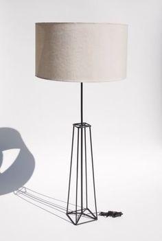 Mid Century Modern Wrought Iron Obelisk Lamp