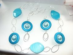 earrings and necklace