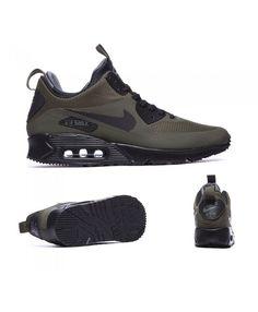 save off 16fb1 7aa0c Nike Air Max 90 Mid Winter Trainers Dark Loden S92268 Air Max 90, Nike Air