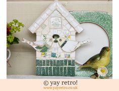 mosaic birdhouse - Google Search