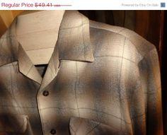 Spring sale Vintage Pendleton Shadow Plaid shirt by Simplemiles, $42.00