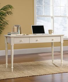 With country roots and vintage soul, the Harbor View collection is filled with inviting, casual charm and offers a stylish alternative to traditional furniture. Made in the USA, this writing desk features distinguished pine wood material and a rustic finish, making it a striking addition to any antique-inspired interior.