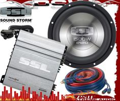 "PSY1500M, E12D SOUNDSTORRM Series 1500 Watt 1ch Amplifer & 12"" Subwoofer"