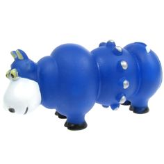 Squeaky Rubber Chew Dog / Pet Toy - Little Blue Cow Animal ...