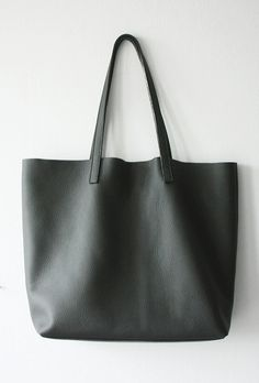 LILA Large Everyday Gray Leather Tote Bag by MISHKAbags on Etsy