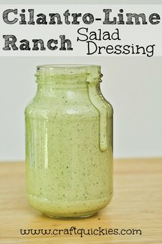 Cilantro-Lime Ranch Salad Dressing