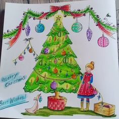 #romanticcountry #romanticcountry1#eriy #coloringbookforadults #color #cocotxmas 😊😊😊 🎄🎁🎉