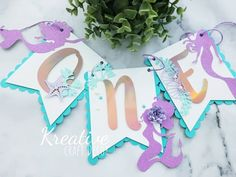 19 Likes, 4 Comments - Karen🇩🇴 Mermaid Party Decorations, Birthday Party Decorations, Party Themes, Birthday Parties, First Birthday Banners, Baby First Birthday, Cricut Banner, Clue Party, My Daughter Birthday