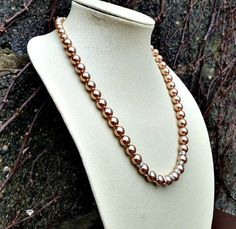 Bridal necklace- Swarovski pearl necklace- Rose gold Swarovski necklace- Swarovski necklace-Pearl necklace-bridesmaids necklace