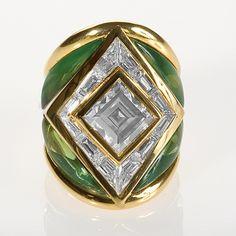 Gold, Diamonds and Tourmaline Ring by Marina B. Rings Jewelry Antique Jewelry Tiffany Lamps Art Nouveau
