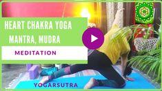 30 Minutes Heart Chakra Yoga Sequence| The Chakra Series-6 - yogarsutra Yoga Inversions, Yoga Sequences, Yoga Poses, Cat Cow Pose, Chakra Affirmations, Warrior Pose, Yoga Youtube, International Yoga Day, Yoga Mantras