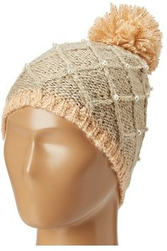 Betsey Johnson Pearls Of Wisdom Skull Cap (Beige) - Hats on shopstyle.com