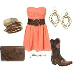 Outfit for Nashville trip! Country Girls Outfits, Country Girl Style, Country Dresses, Country Fashion, Country Life, Cowgirl Outfits, Southern Style, Country Chic, Country Jam