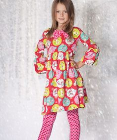 Take a look at this Jingle Jelly Ashley Dress & Leggings - Infant, Toddler & Girls by Jelly the Pug on #zulily today!