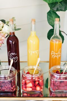 Make it a brunch bridal shower with bubbly and plenty of mix options