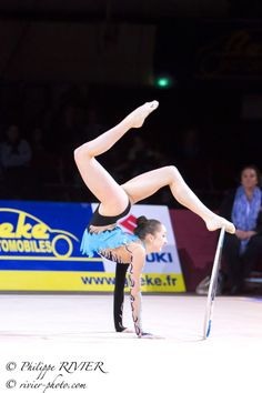 Marina DURUNDA, Azerbaijan, got the 3d place in hoop finals at Grand Prix Thiais 2015