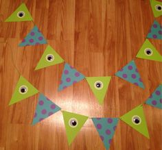 Monsters Inc themed Bunting  set of 2 by southernladygifts on Etsy