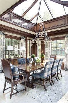 Love this Atrium Ceiling effect in this wonderful Greenwich, CT - dining room!