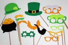 St. Patrick's Day Photo Booth Props  Awesome St by TOASTEDProject