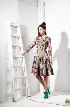 50s style Flower Dress 285zł / 82$ 100% Cotton