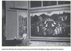 Ghent Altarpiece, Rembrandt Portrait, Monument Men, Artist Birthday, Jan Van Eyck, Galleries In London, John The Baptist, National Treasure, Lost Art