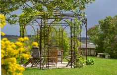 The pergola is on medieval motte and bailey. This unique and intimate garden is for the castle guests only.