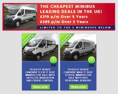 Minibus World are offering the Cheapest Minibus Leasing Deals in the UK! Limited Time Offer. Call 01782 444289 or visit our Website