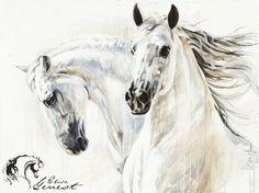 Toiles passées - past paintings — Elise Genest Horse Drawings, Animal Drawings, Art Drawings, Horse Wall Art, Horse Artwork, Painted Horses, Arte Equina, Horse Oil Painting, Brick Art