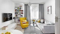Podoba nam się czarno-biało-szara kolorystyka z akcentem żywego koloru