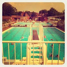 Open zwembad @ abdijkaai Kortrijk