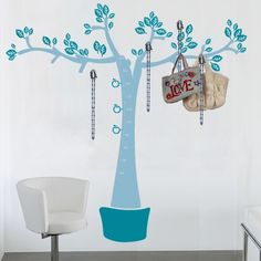wall decal meter and hanger tree Perfect for kids!